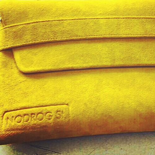 Cecil folio in Mustard Suede - limited edition with detachable cross body strap